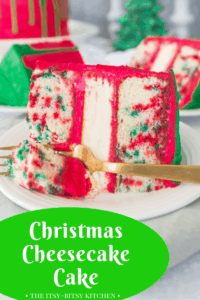 pin image for Christmas cheesecake cake