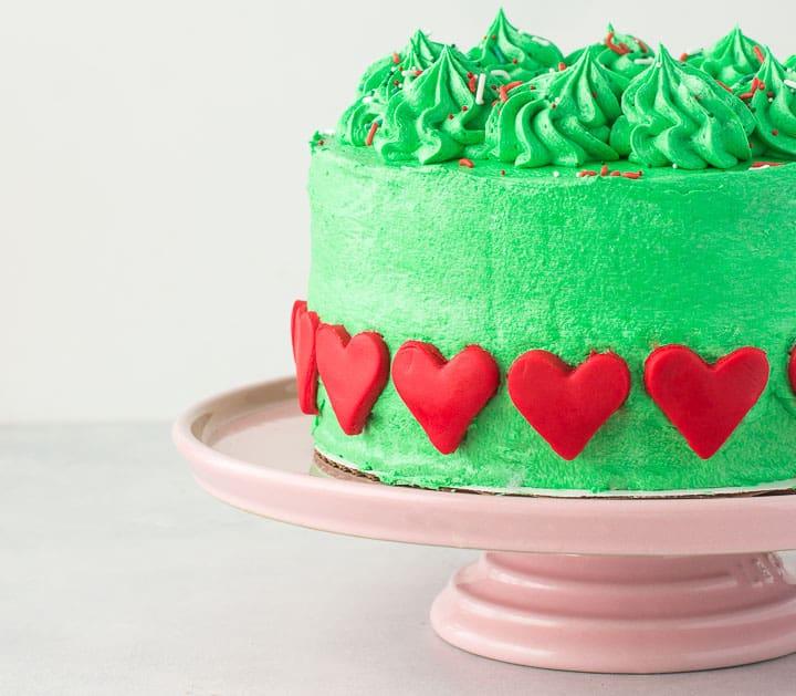 Grinch Cake The Itsy Bitsy Kitchen