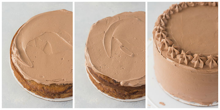 how to assemble chocolate banana cake step by step