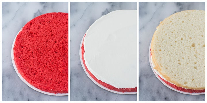 how to assemble peppermint cake step by step
