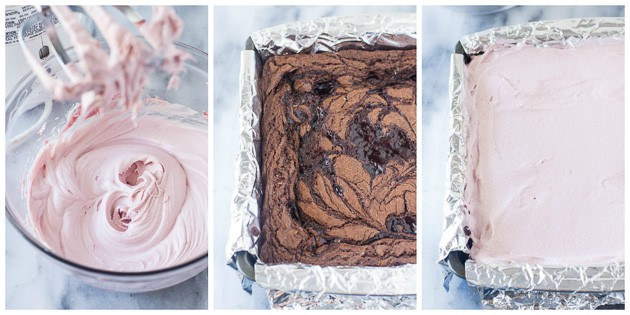 how to finish raspberry brownies steps 1 through 3