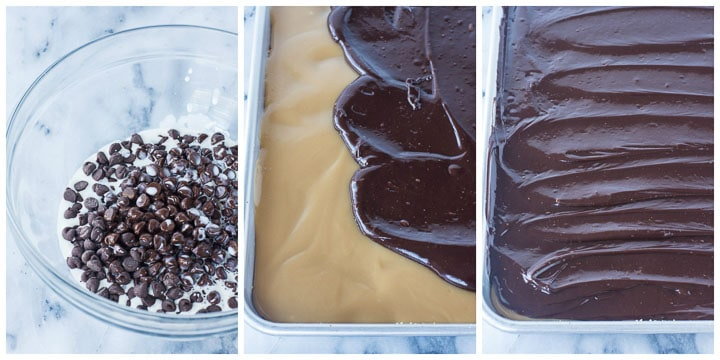 how to make chocolate caramel bars step by step