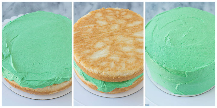 how to frost grinch cake step by step