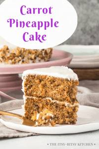 pin image for carrot cake with pinapple