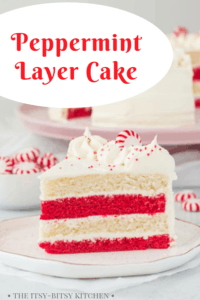pin image for peppermint layer cake