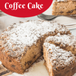 pinterest image for apple coffee cake