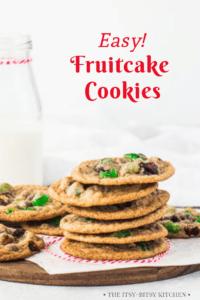 pin image for fruitcake cookies