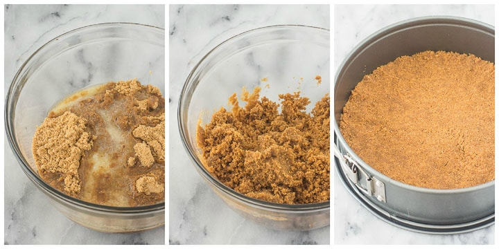 how to make gingersnap crust for eggnog cheesecake step by step
