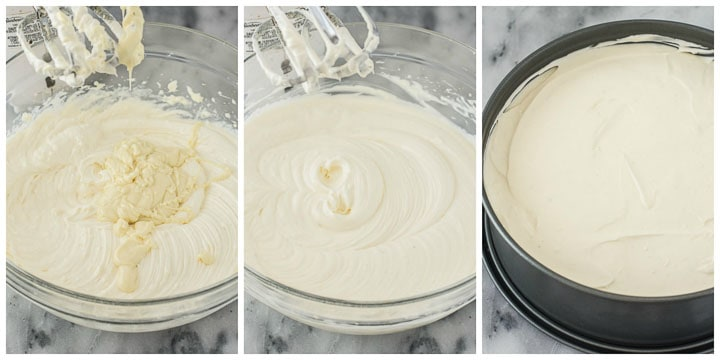 how to make eggnog cheesecake filling step by step 2