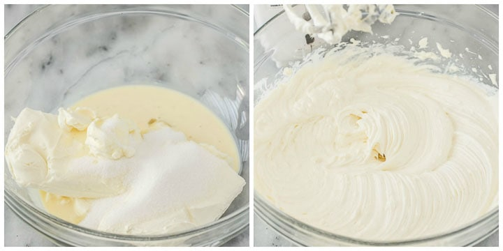 how to make eggnog cheesecake filling step by step