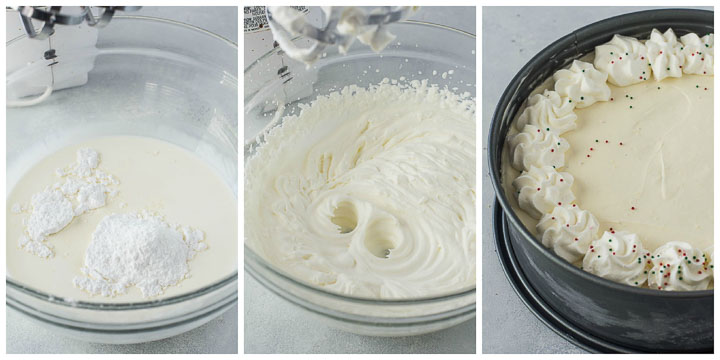 how to make eggnog cheesecake topping step by step