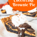 pin for cheesecake pumpkin brownie pie