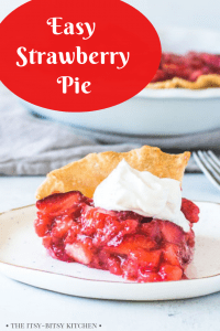 Pinterest image for easy fresh strawberry pie