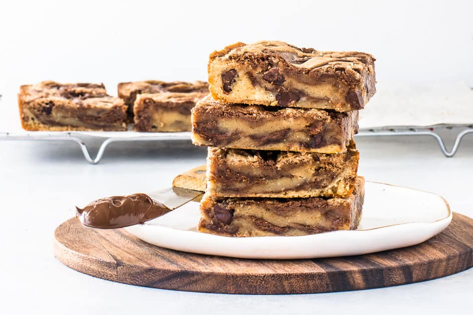 Easy Nutella Bars The Itsy Bitsy Kitchen