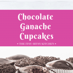 Pinterest image for chocolate ganache cupcakes with text overlay