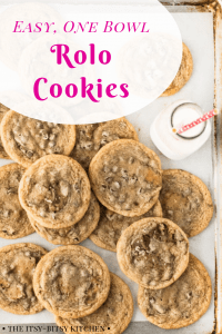 pinterest image for Rolo cookies with text overlay
