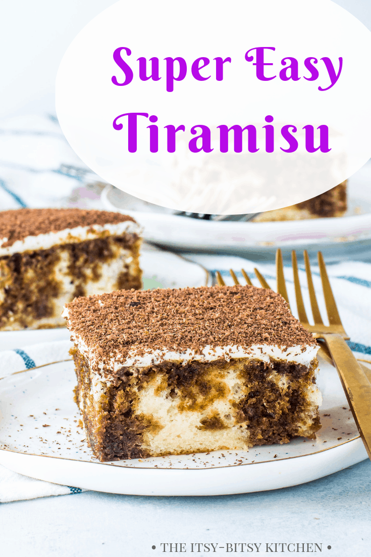 pinterest image for tiramisu with text overlay