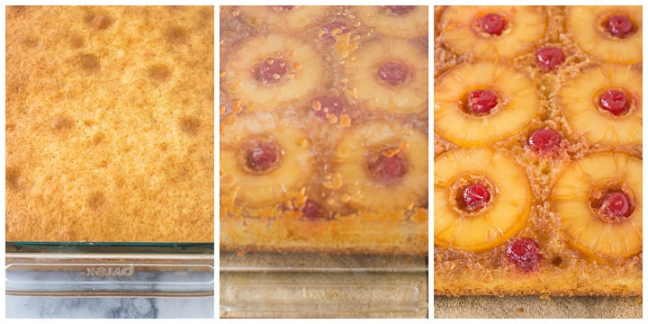 easy pineapple upside-down cake step by step 3