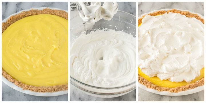 how to finish lemon cream pie