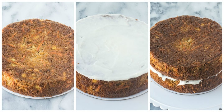 how to frost carrot pineapple cake