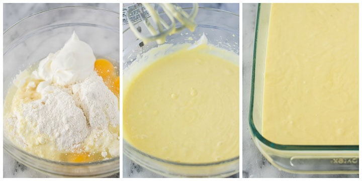 how to make lemon poke cake step by step