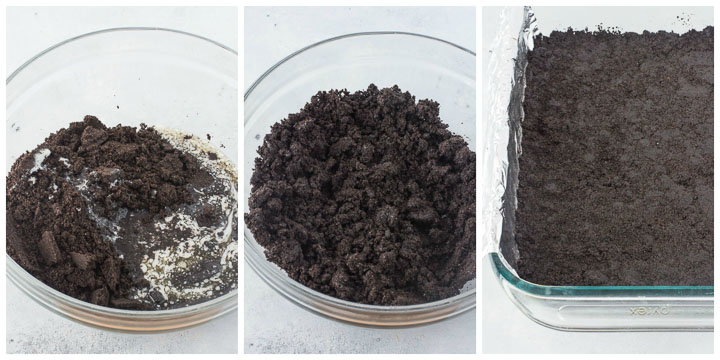 how to make oreo crumb crust step by step