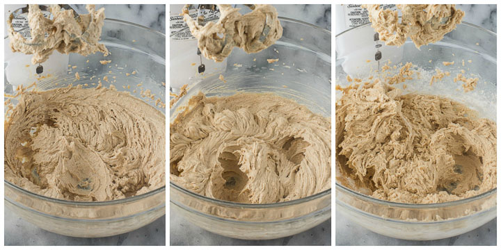photo collage for how to make peanut butter cookie bars part 1