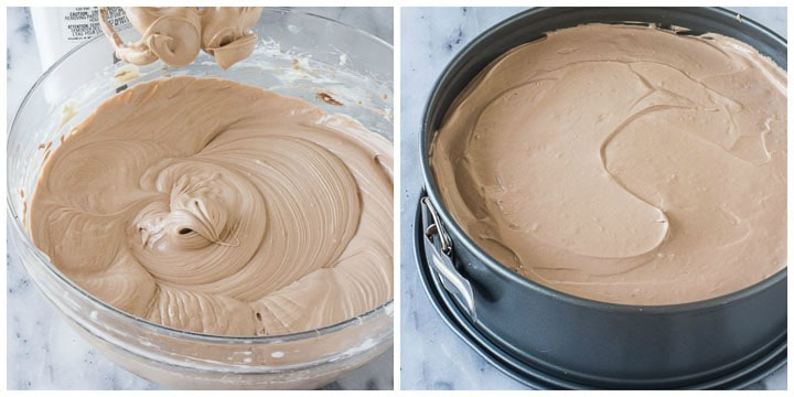how to make triple chocolate cheesecake filling