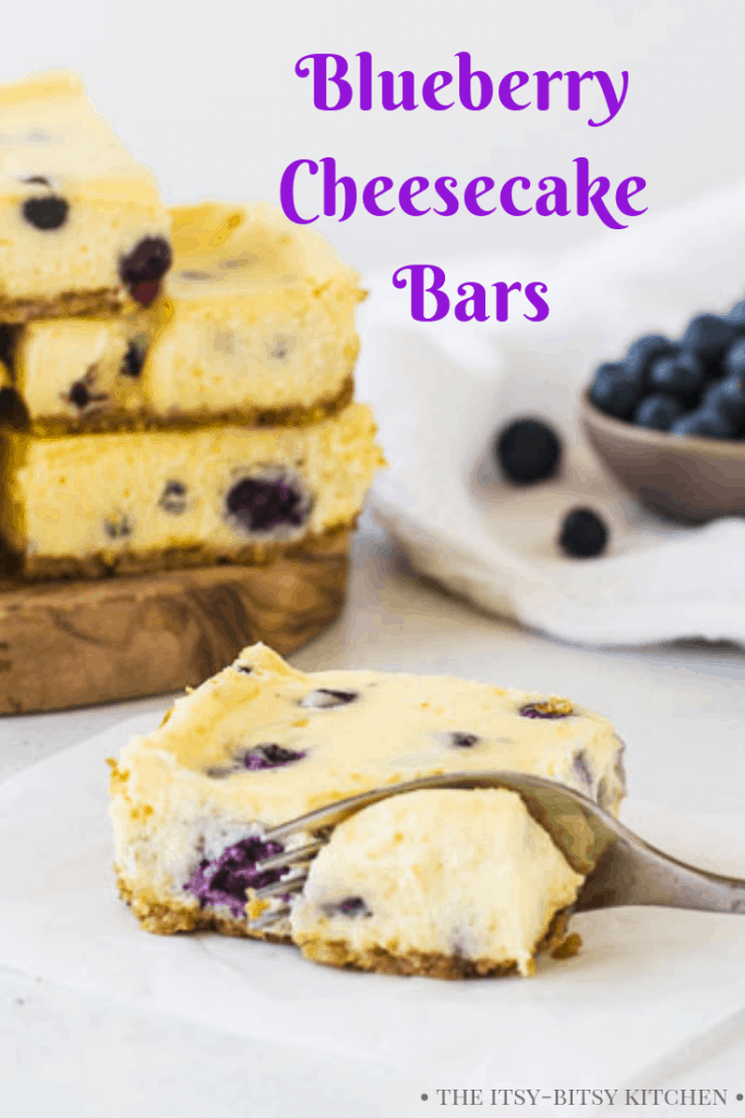 Pinterest image for blueberry cheesecake bars