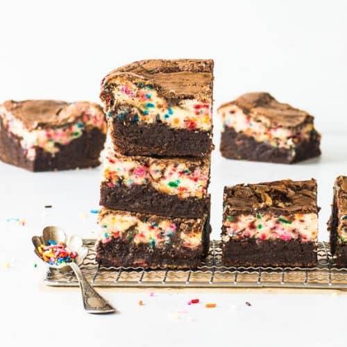 Sensational Birthday Cake Brownies The Itsy Bitsy Kitchen Funny Birthday Cards Online Elaedamsfinfo
