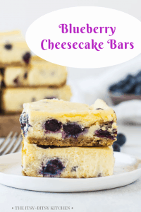 blueberry cheesecake bars image for Pinterest