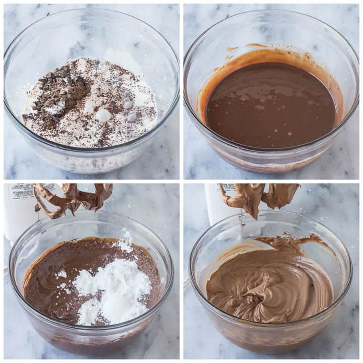 how to make whipped chocolate ganache cake filling