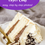 Pinterest image for black and white cake