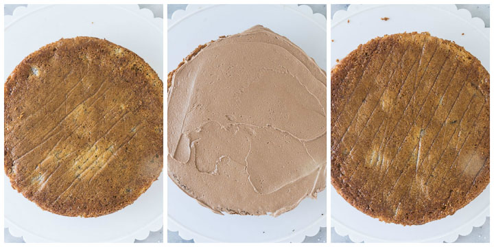 how to assemble banana Nutella cake