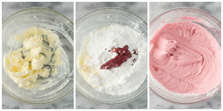 how to make raspberry buttercream step by step