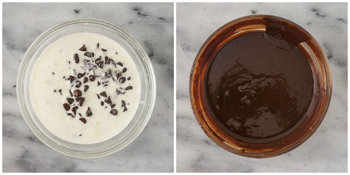 how to make chocolate ganache topping