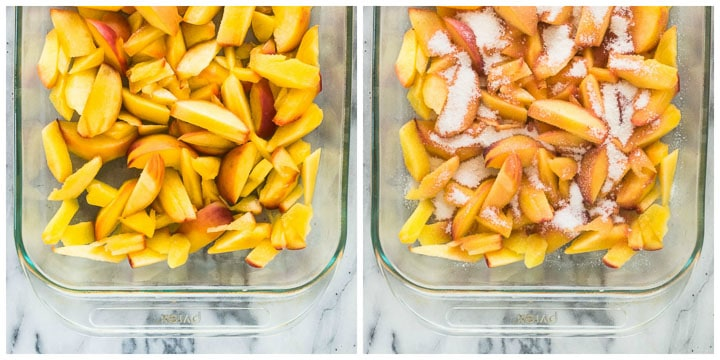 how to make fresh peach dump cake step by step
