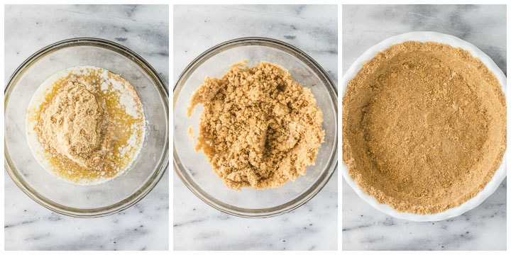 how to make graham cracker crust step by step
