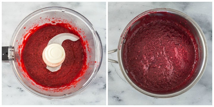how to make raspberry jam cake filling