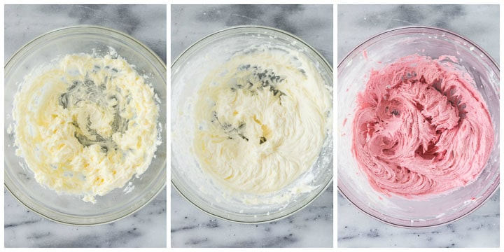 how to finish raspberry buttercream step by step