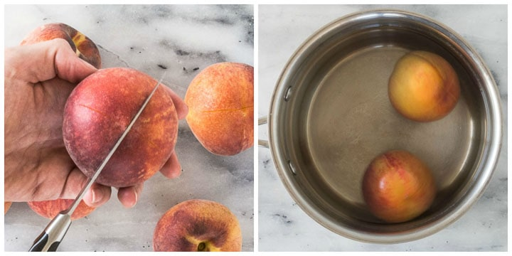 how to peel peaches step by step