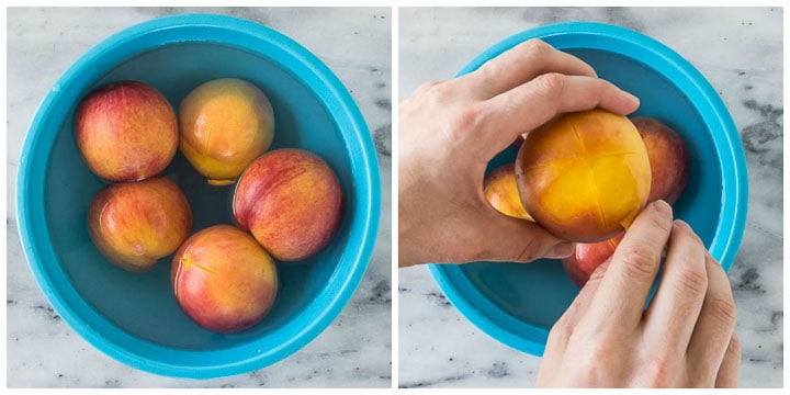 how to peel peaches steps 3 and 4
