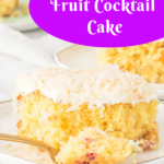 easy fruit cocktail cake Pinterest image