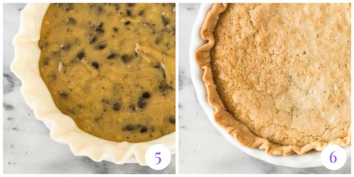 how to finish chocolate chip cookie pie