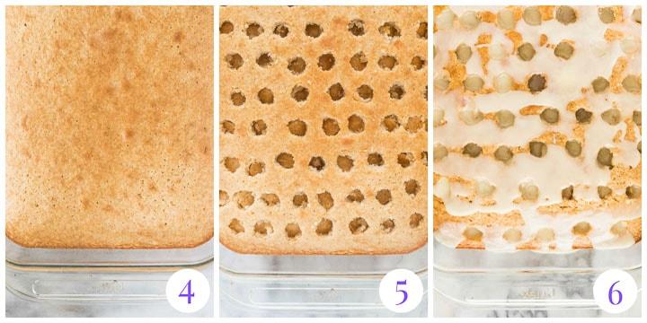 how to finish fireball poke cake