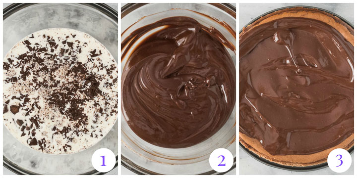 how to make chocolate amaretto ganache step by step