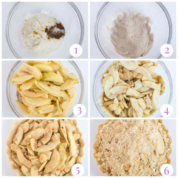 how to make cheddar apple pie step by step