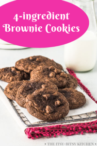 pin image for brownie cookies