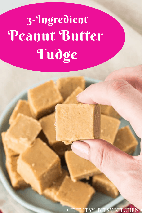 Pinterest image for easy peanut butter fudge