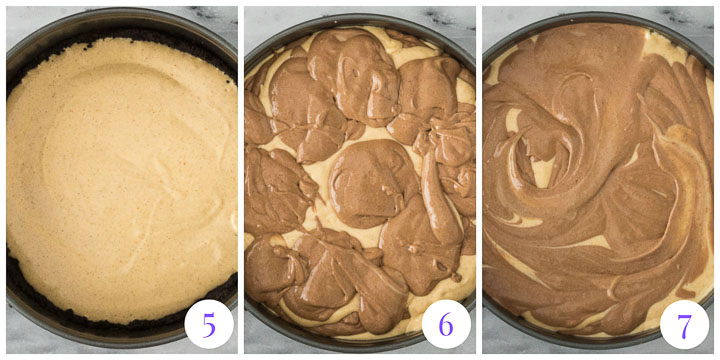 how to finish pumpkin chocolate cheesecake